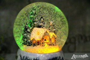 Image 2 - Christmas Snow Globe Snow House Crystal Ball Rotate Light Voice Control Music Box Castle In The Sky Birthday Gift for Girlfriend