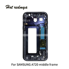 Middle Frame Bezel For Samsung Galaxy A3 A320 A5 A520 A7 A720 2017 Version Mid Chassis Housing With Power On off Side Button