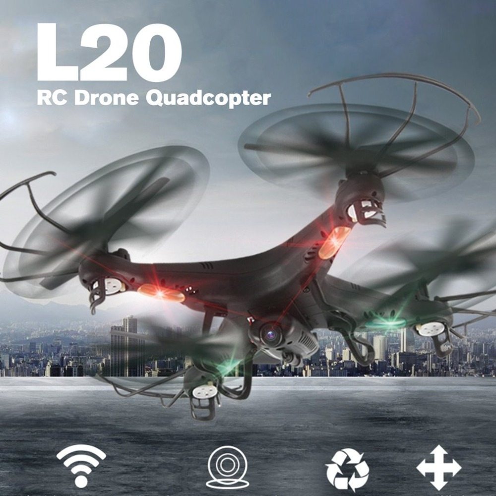 OCDAY L20 Smart Selfie FPV RC Drone Quadcopter Aircraft UAV with Real Time 0.3MP Camera CAM Headless Mode 3D-flipOCDAY L20 Smart Selfie FPV RC Drone Quadcopter Aircraft UAV with Real Time 0.3MP Camera CAM Headless Mode 3D-flip