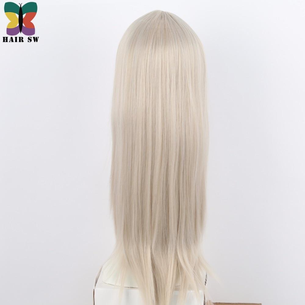 Lång på Ice Childhood Wig Cospaly Blond Syntetisk COS Tecken Wig - Syntetiskt hår - Foto 3