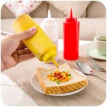 1pc Salad Pastry Tips Squeeze Ketchup Salad Dressing Jar Sauce Bottles Leakproof Oiler Cruet Cooking Oil Sprayer Bottle