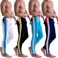 Moda nuevos hombres del diseñador de poca altura Modal ropa interior calzoncillos largos pantalones térmicos Color emparejado Legging