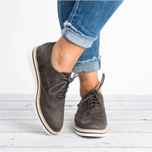 2019 New British Oxford Shoes Woman Lace-up Carving Bullock Pointed Toe Slip on Creepers Preppy Leather Derby Shoes Women Flats