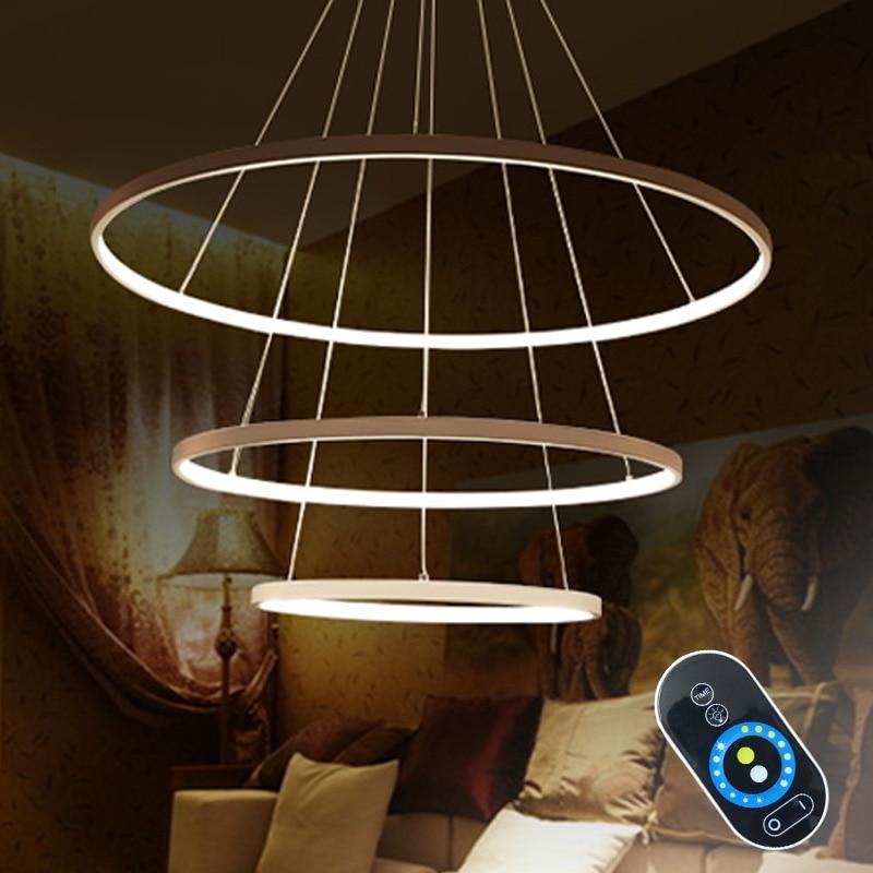 anello ciondolo luci apparecchi da cucina moderna lampada led per le luci soggiorno paralume in alluminio