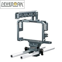 Sevenoak SK GHC20 Aluminum Camera Cage with Top Handle Grip and Shoe Mount 15mm Rods for Camera Rig Panasonic Lumix DMC GH3, GH4