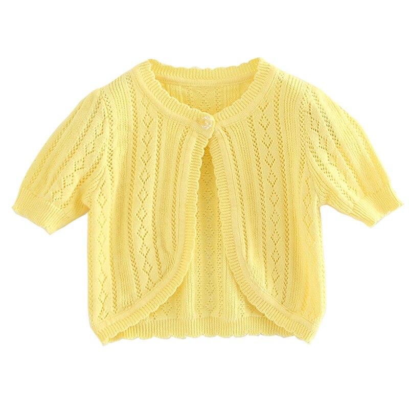 Coat Cardigan Jacket Girl's Toddler Baby Summer Yellow 12 Thin RKC194005 Shawl Children
