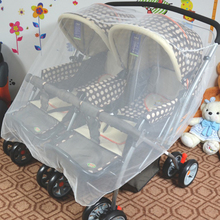 Summer Baby Stroller Pushchair Mosquito Net Insect Shield Safe Infants Protection Mesh big size for Twins Stroller Accessories(China)