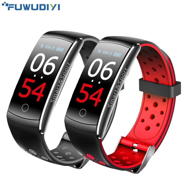 FUWUDIYI Banda Inteligente Rastreador De Fitness Pulseira IP68 Medida Da Pressão Arterial Monitor de Freqüência Cardíaca À Prova D' Água Relógio PK mi banda 3 global