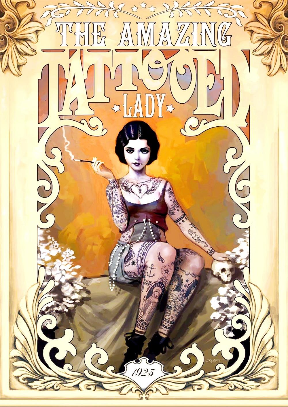 Aliexpress.com : Buy THE AMAZING TATTOOED Beauty Poster ...