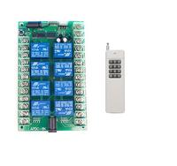 Long distance Wireless RF remote switch 10A Relay DC 12V or 24V 8CH Wireless RF Remote Control Switch Transmitter & Receiver