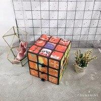 Creative Cartoon Cube Storage Drawer Box Baking Bread Wine Hand Gift And Sugar