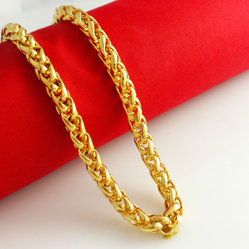 BALMORA New Fashion Colorfast 51/60cm Long 6mm Wide Gold Color ...