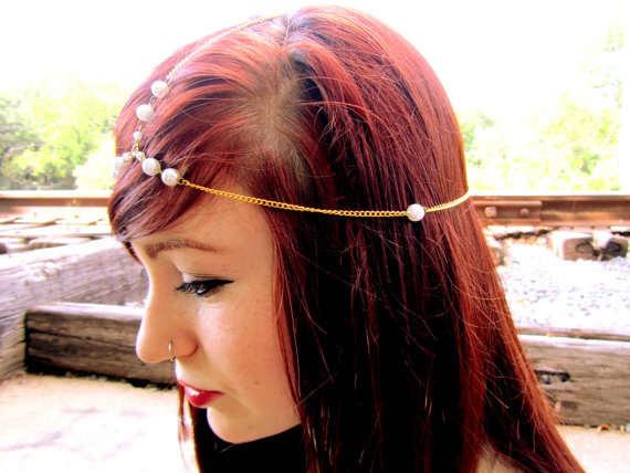 placeholder Super America star models Korean sweet lady temperament  imitation pearl tiara headbands hair accessories indian head fbda9c42e853