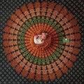 140 cm * 2 m Newborn Fotografia Props Blanket Deitado Indiano Mandala Tapeçaria Folha Boho Pavão Posando Fotografia Pano de Fundo