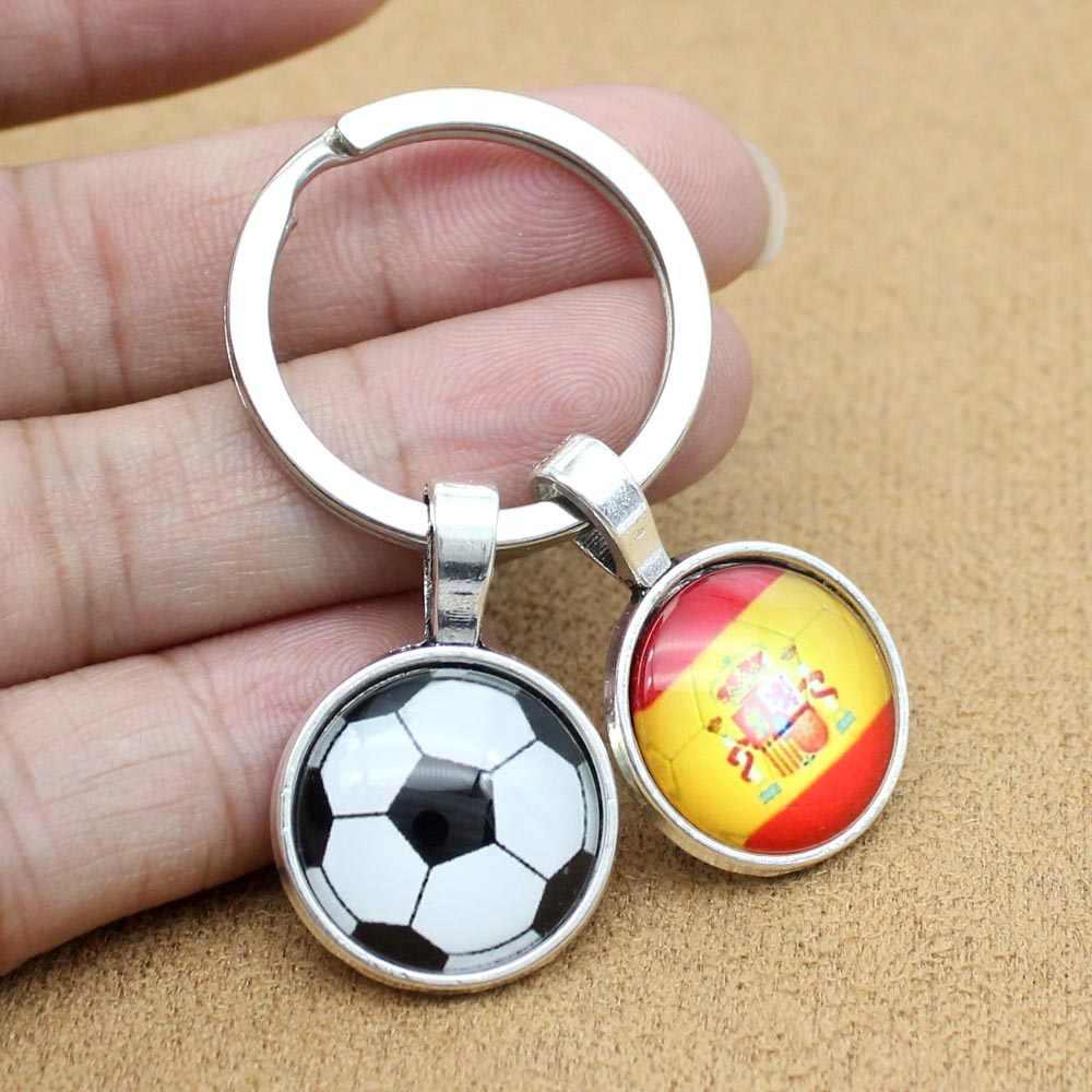 Новый Кубок мира по футболу брелок Россия, Германия, Франция, Испания Англия Бразилия флаг Португалии футбольный брелок-сувенир