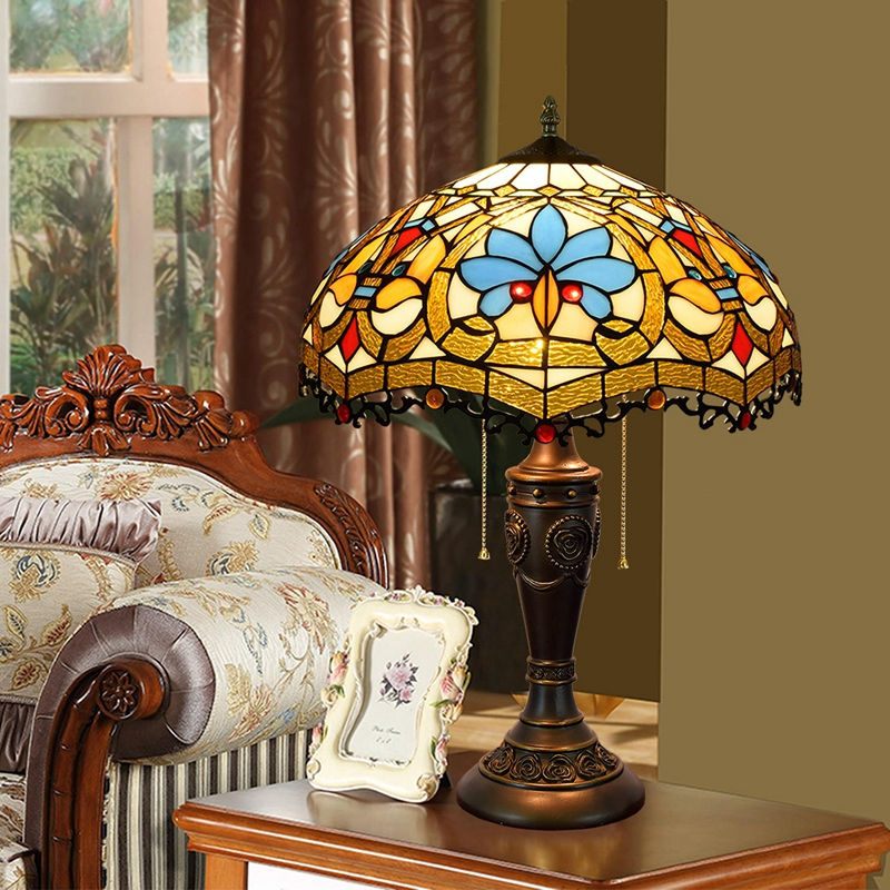 European style retro creative love art glass living room decoration desk lamp American zipper desk lamps 40CM 110-260V e27 e26