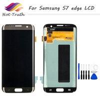 1 шт DHL Быстрая доставка оригинальный ЖК дисплей для samsung Galaxy S7 край G935 G935F ЖК дисплей Дисплей оцифровать Сенсорный экран Pantalla