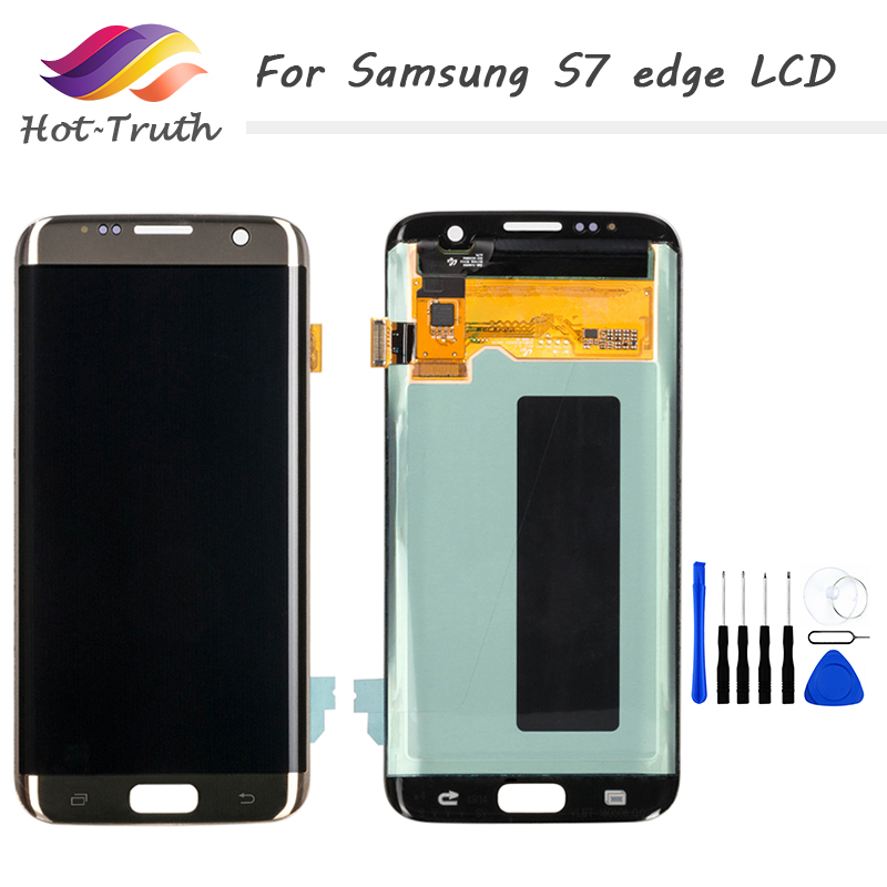 1PCS DHL Fast Shipping Original <font><b>LCD</b></font> For <font><b>Samsung</b></font> Galaxy S7 Edge <font><b>G935</b></font> G935F <font><b>LCD</b></font> Display Digitize Touch Screen Pantalla image