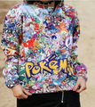 Alisister Autumn Harajuku style pokemon sweatshirt women/men anime print 3d hoodies moleton feminino cartoon sweat shirt tops