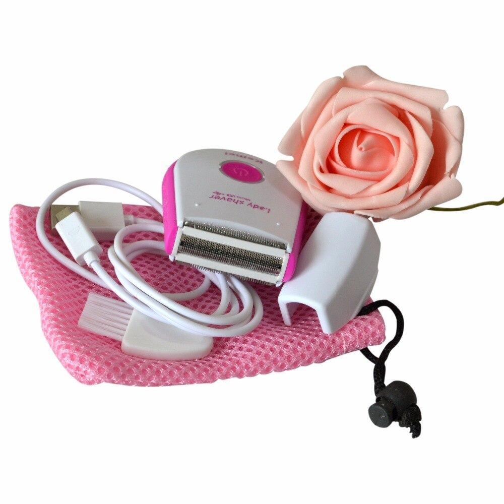 1pc Mini USB Rechargeable Electric Lady Shaver <font><b>Single</b></font> Blade Electric Epilator Red Bikini Underarm Portable Body Trimmer