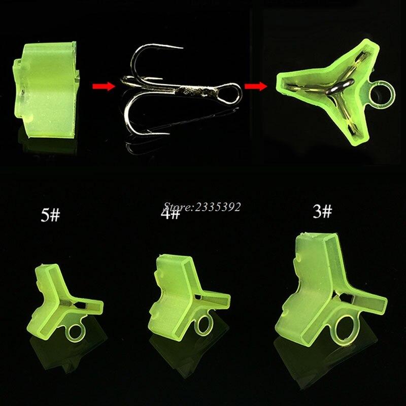 10//50Pcs Durable Fishing Treble Hooks Jig Covers Case Bonnets Caps*Protector Nbd