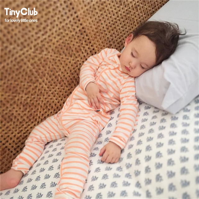 2246660e0923 Infant Jumpsuit Long Sleeves Stripe Baby Boy Girl Clothes Tiny Cottons New  Born Toddler Onesie Overalls