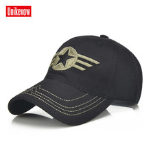 1Piece Army cap Baseball Cap Men Outdoor Sports leisure hats star embroidery sport for men and women 100% cotton