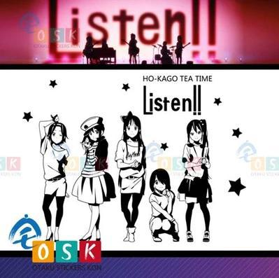 Pegatina Anime de Bande Dessinée Autocollant De Voiture K-ON LET'S GO Vinyle Wall Sticker Decal Décor Décoration de La Maison