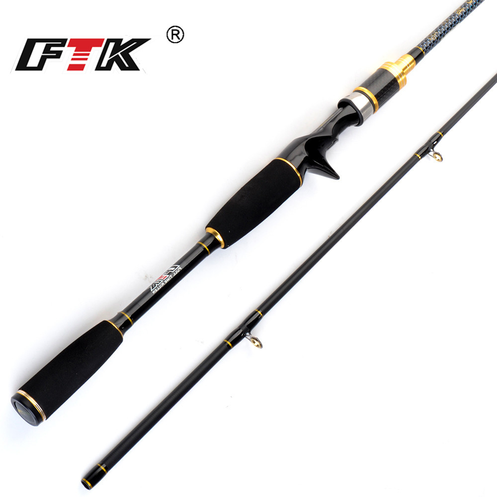 FTK Carbon Body Casting Fishing Rod 1.8m 2.1m 2.4m C.W 10-30g 2 section Baitcasting Rod Lure Rod for Squid Pike Fishing pole