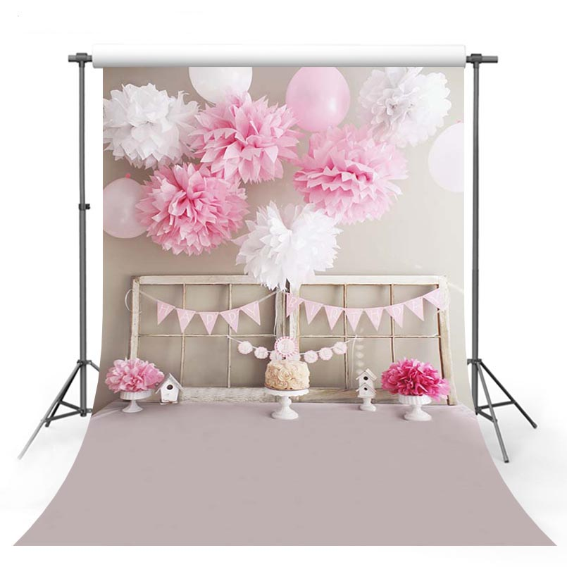 3 D vinyl cloth pink balloons birthday party photography backdrops for baby shower portrait photo studio background 8x10ft valentine s day photography pink love heart shape adult portrait backdrop d 7324