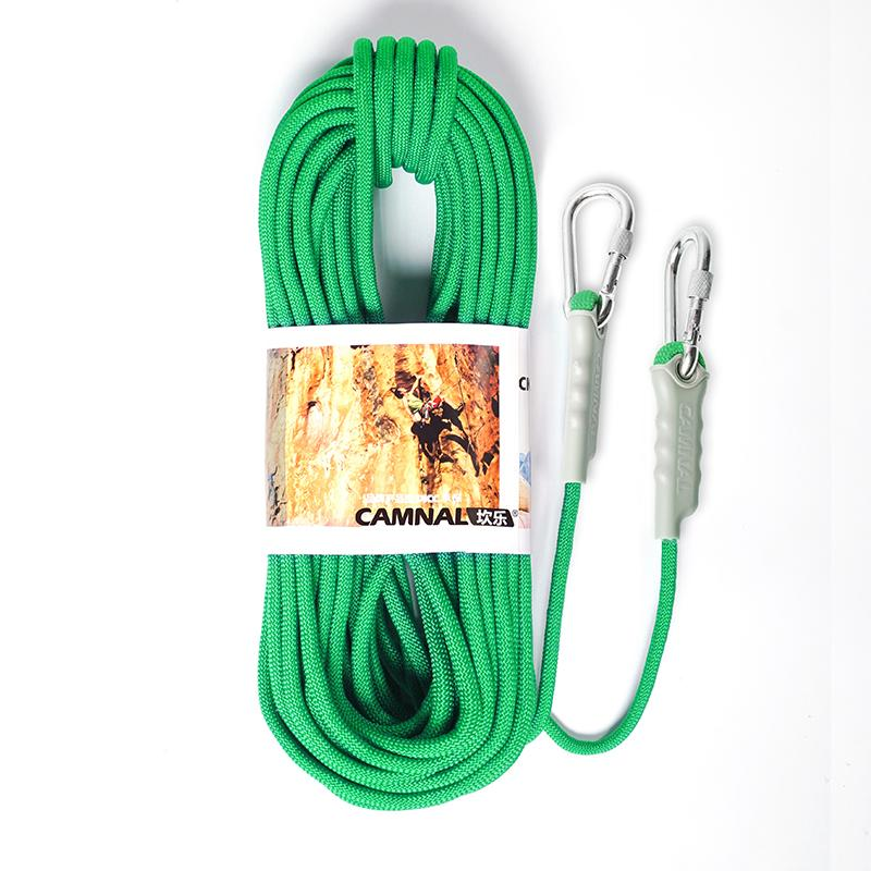 10m 8mm Climbing Rope Survival Safety Auxiliary Cord Floating Ropes+2x Carabiner 800KG Leading Rope Polypropylene Fiber
