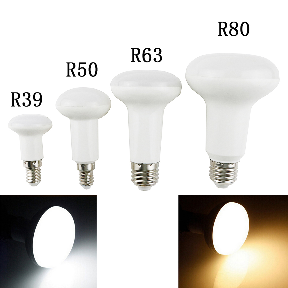 R39 R50 R63 R80 led light 3W/5W/9W/12W E27/E14 Umbrella LED Bulb Cool White/Warm White AC85~265V dimmable SpotLight Lamp 1PCS
