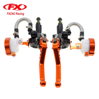 FXCNC Motocycle Clutch 7 8 Motorcycle Hydraulic Brake Clutch Levers Master Cylinder Brake Motorcycle Lever Parts