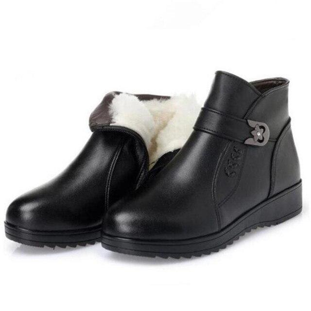 c4d40485c7 US $43.99 |ZXRYXGS di marca stivali comodi stivali di inverno delle donne  stivali 2018 di grandi dimensioni stivali da neve caldo mamma genuino  scarpe ...