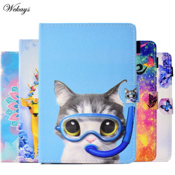 Wekays Cartoon Cat Owl PAD Covers 7 Inch Tablet Protective Case Universal PU Leather Cover Cases For Samsung Amazon Cover Fundas kefo universal cover for prestigio multipad grace 3118 pmt3118 3318 pmt3318 3g 8 inch tablet zipper nylon tablet covers case