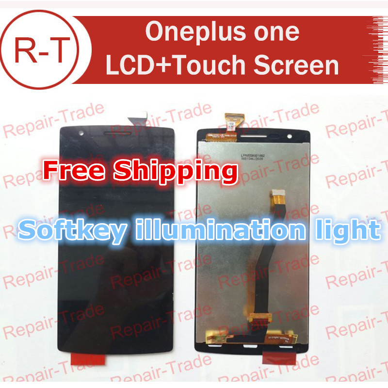 Oneplus one LCD Display Screen+Touch Screen Assembly Replacement For Oneplus one 100% With Softkey illumination light+Free Ship