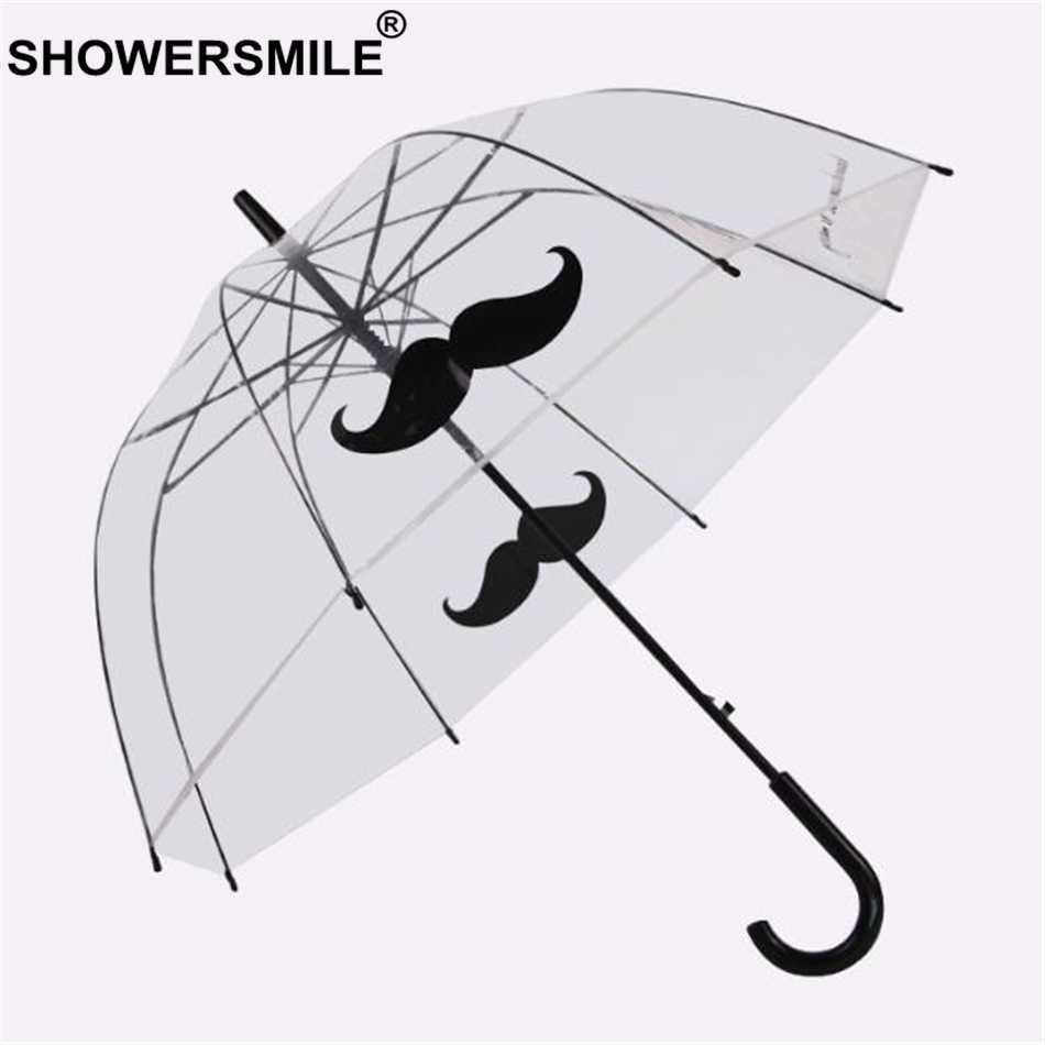 SHOWERSMILE прозрачный зонтик для дождя Женский Мужской строительный аполлон прозрачный зонтик гриб Креативный новый бренд Brolly