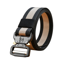 Waist Support Tactical Belt Quickdrying Automatic Buckle Polyester Adjustable Hunting Waistband Outdoor Protection