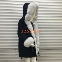 2018 Real fur coat fox parkas winter jacket coat women parka big real raccoon fur collar natural fox fur liner long outerwear children winter big real raccoon fur hooded thick warm parkas jackets boy girls fashion 2018 casual real liner coats bing bunny