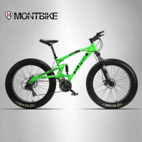 Lauxjack 26 4 0 Mountain Bike Double Disc Type And SUV 24 Bike Speed