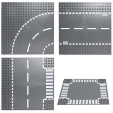 Road Plate Straight Crossroad Curve T-Junction Building Blocks Parts Bricks Base Plate Models City  sc 1 st  AliExpress.com & Buy plastic road plates and get free shipping on AliExpress.com