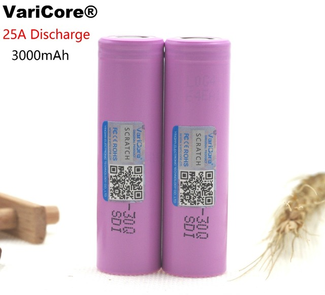 100% Original Brand new INR18650 30Q 18650 3000mAh lithium Rechargeable battery For Electronic cigarette Batteries