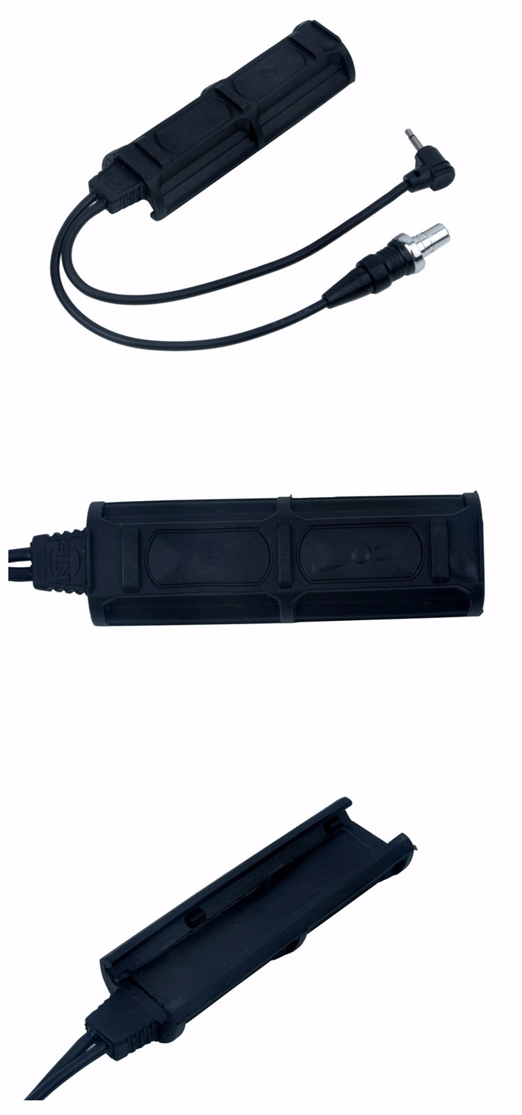 For PEQ Tactical Remote Dual Switch 2 Plug Pressure Pad Switch Flashlights