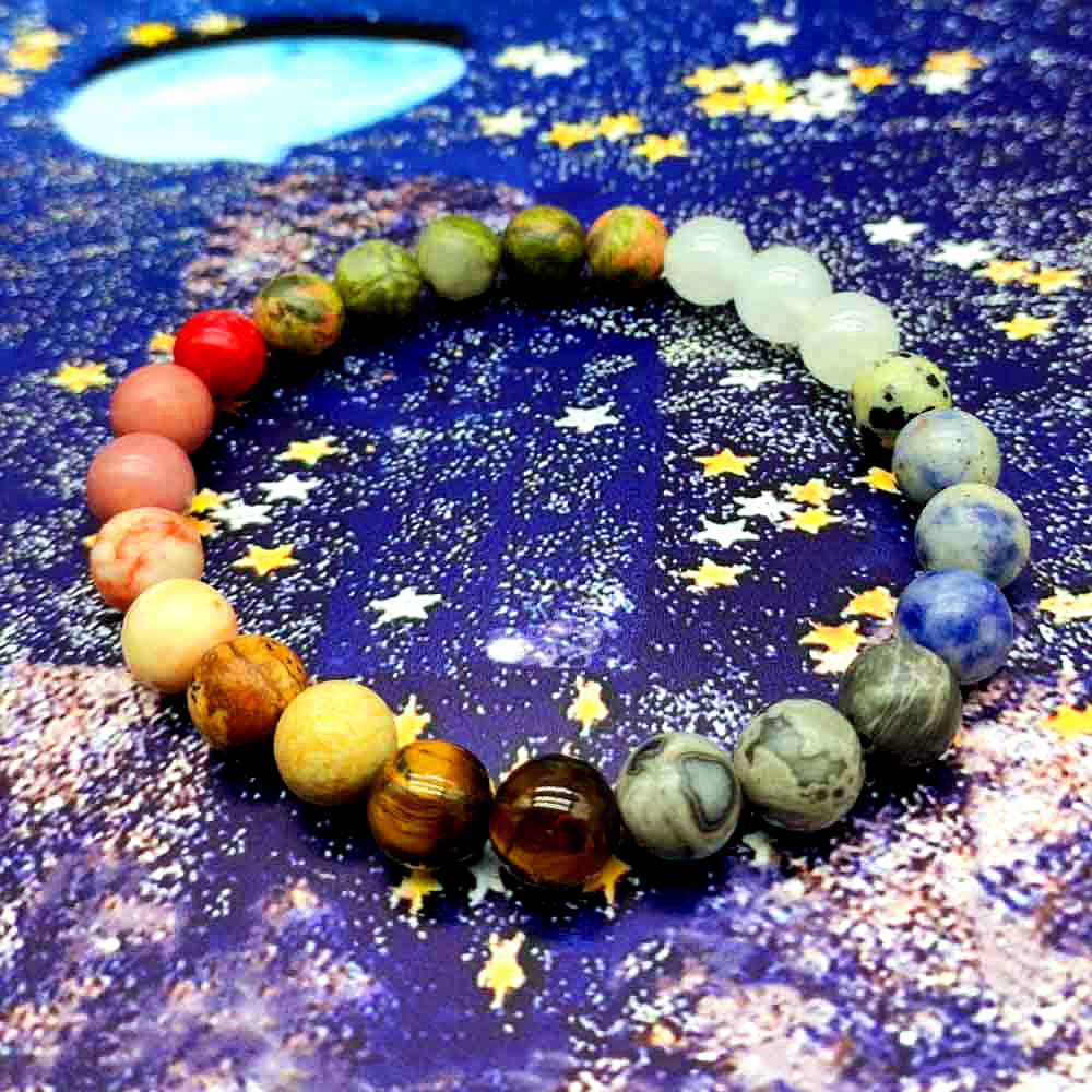 dropship 10mm Universe Premium Planets Solar Natural Stone Beads Bracelet Bangle for Women Men Gift Chakra Yoga Bracelet Jewelry