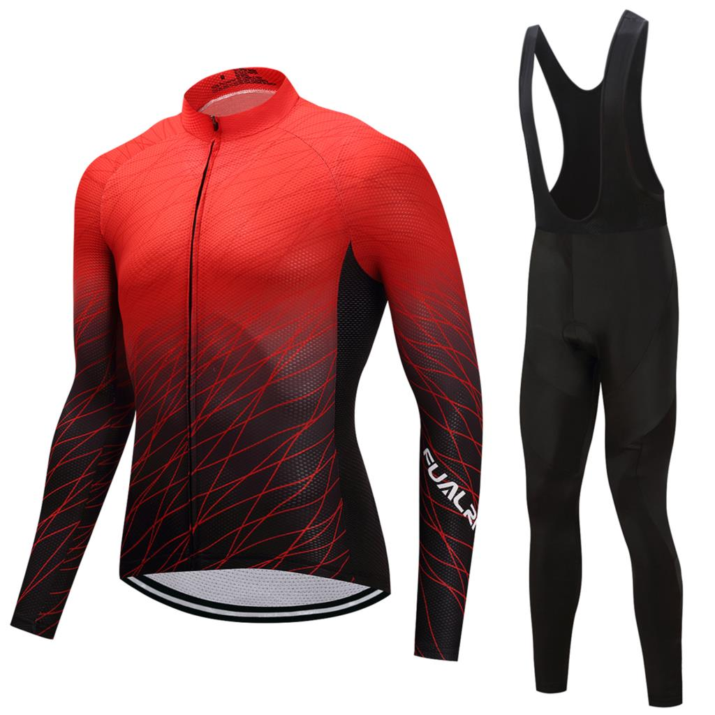 FUALRNY Winter thermal fleece cycling jersey 2018 pro team ropa ciclismo hombre invierno men cycling clothing mtb bike clothes fualrny 2018 winter fleeced thermal cycling clothing set racing bike sportswear maillot ropa ciclismo invierno bicycle jersey