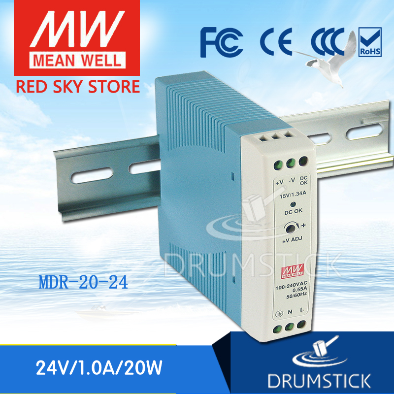 (12.12)MEAN WELL MDR-20-24 24V 1A meanwell MDR-20 24V 24W Single Output Industrial DIN Rail Power Supply