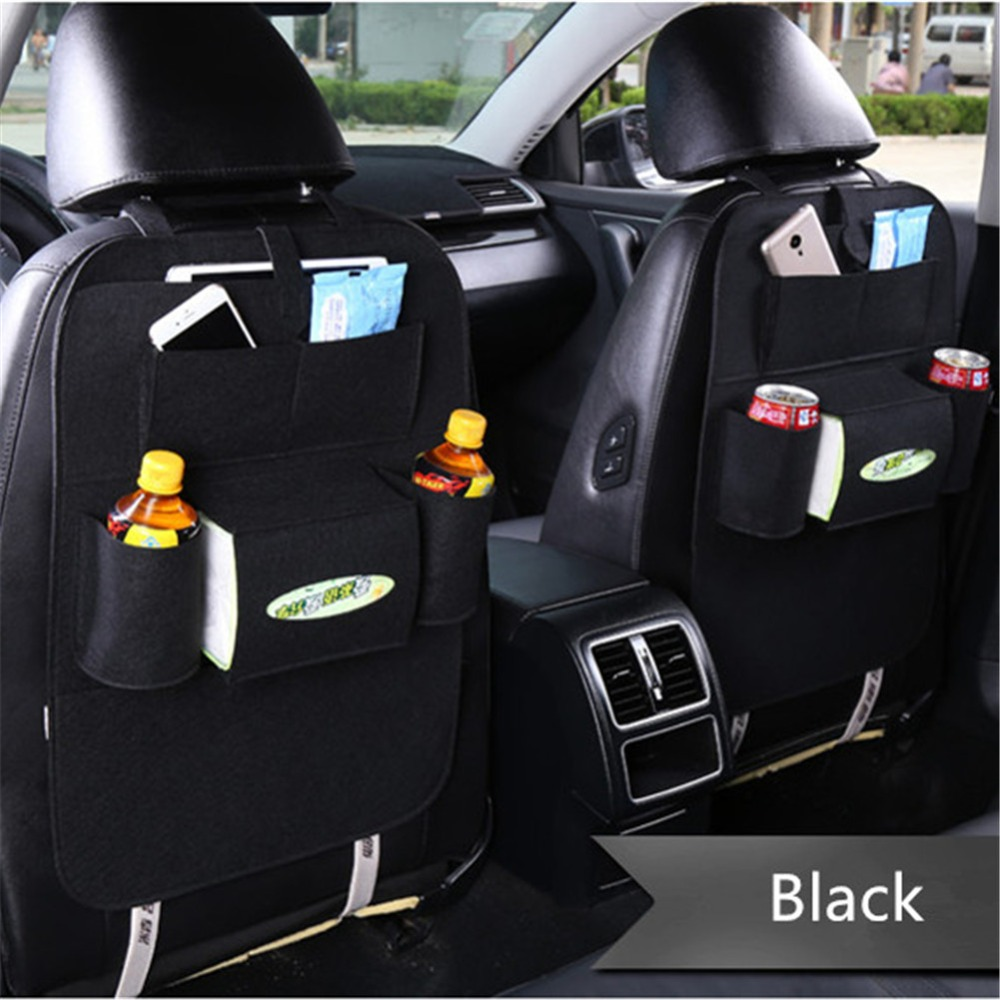 Car Organizer Back Seat Storage Bag Phone Pouch Tissue Box Cup Holder Car Styling Car Seat Organizer for Books Tablet Drinks Hot