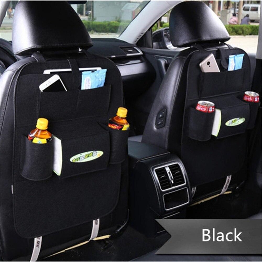 Organizador Multi-Bolsillo bolsa de almacenamiento de asiento de coche asiento trasero del teléfono del organizador bolsillo para libros Tablet bebidas gaseosas sin alcohol tejido