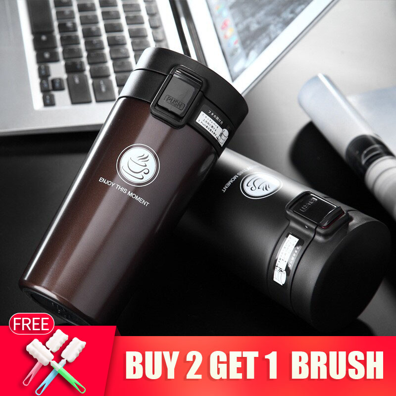Hot Quality Double Wall Stainless Steel Vacuum Flasker 360ml 380ml Car Thermo Cup Kaffe Tea Travel Mug Thermol Bottle Thermocup