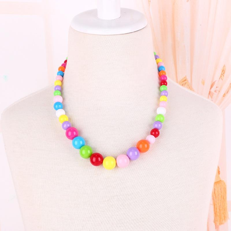 Hot Sale Children Necklace Bracelets Jewelry Set Lovely Sweet Kids Boy Girls Acrylic Bead Party Jewelry Small Gift Accessories